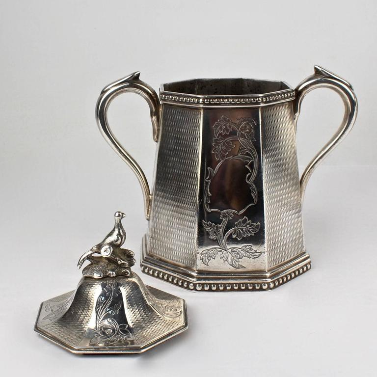 19th Century Wood and Hughes New York Coin Silver Tea Set For Sale 2