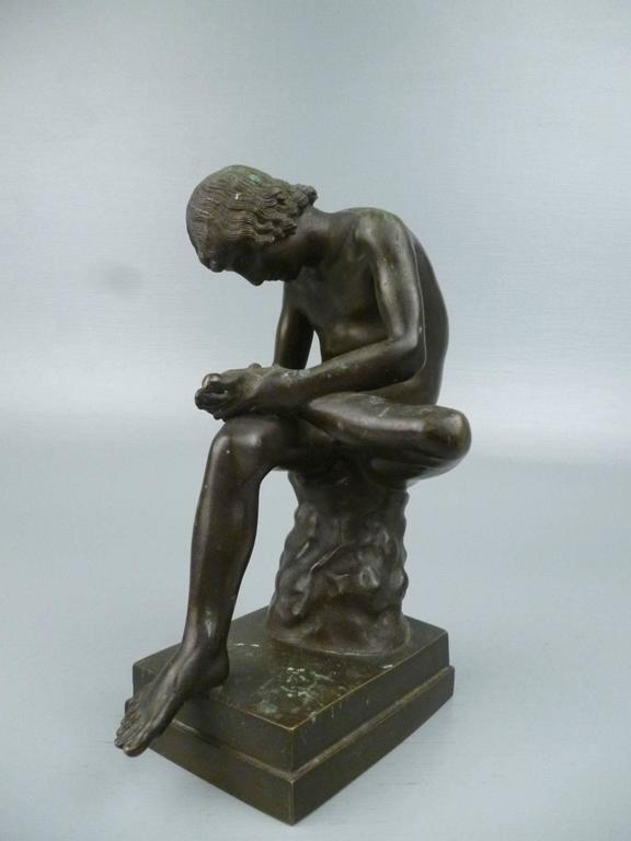 Italian Grand Tour Bronze Sculpture of Spinario the Thorn Picker For Sale