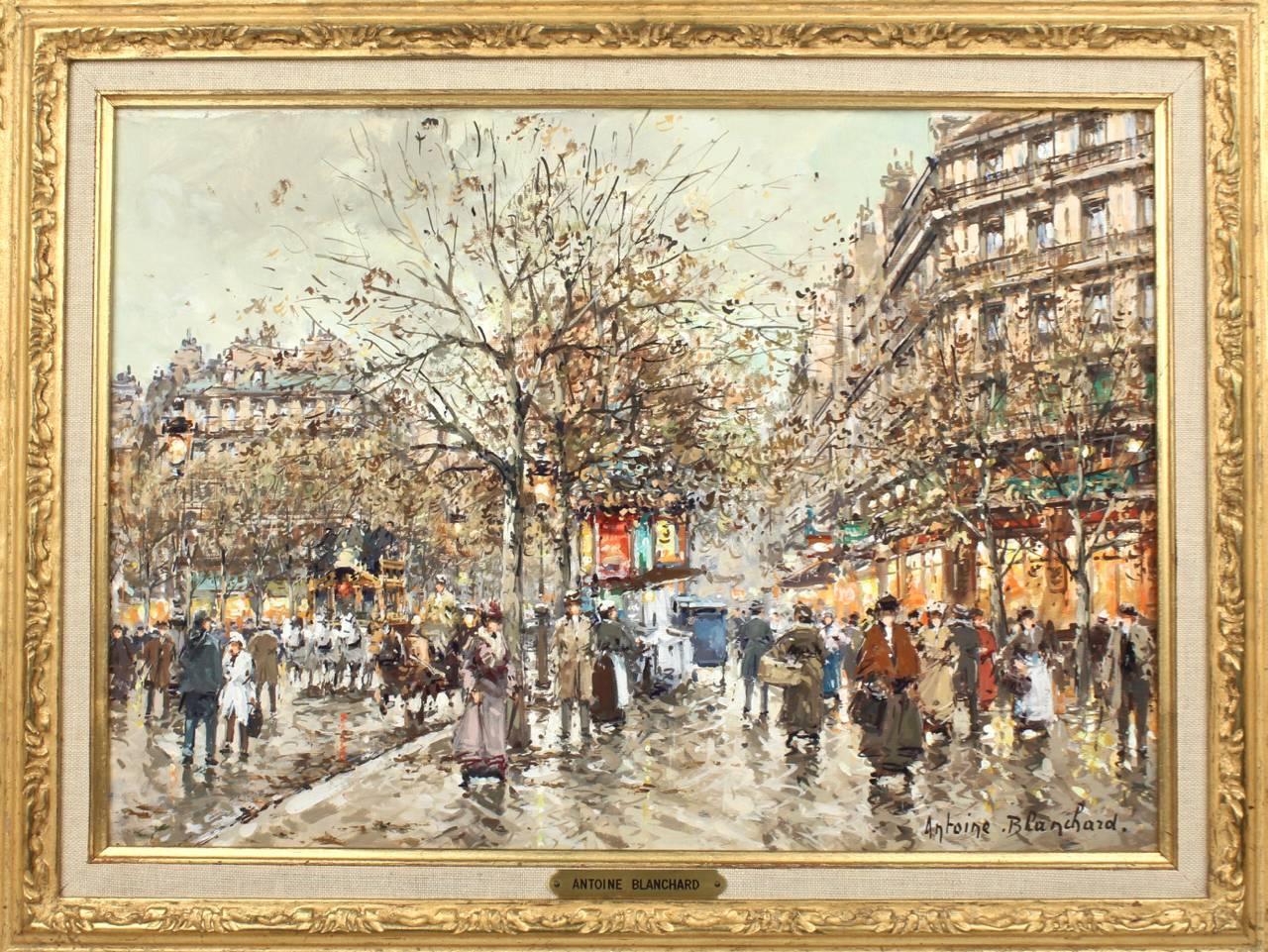 Les galeries lafayette a paris en 1900 oil painting by antoine blanchard at 1stdibs - Galerie street art paris ...