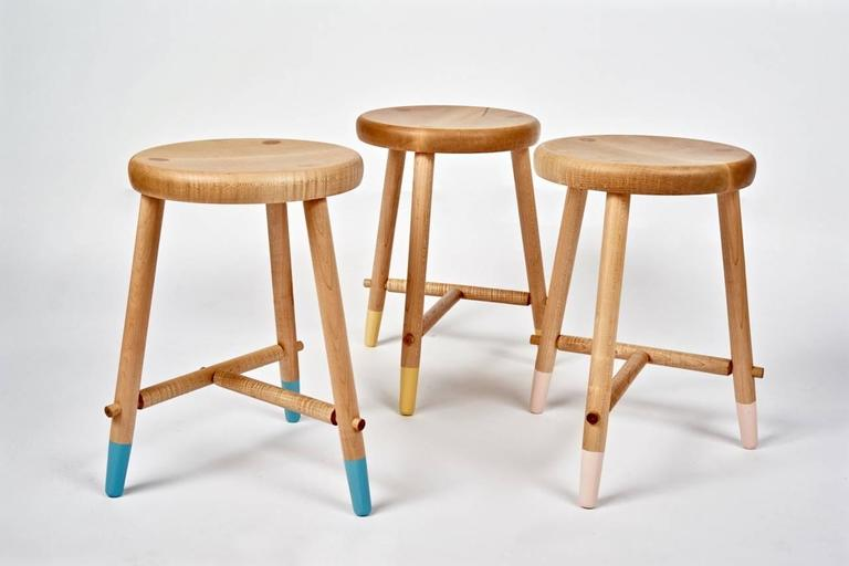 Tripod Stool in Maple by Max Greenberg for Works Progress, 2016 For Sale 1