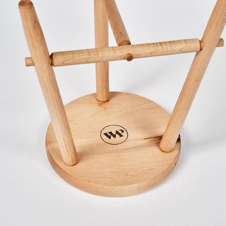 Contemporary Tripod Stool in Maple by Max Greenberg for Works Progress, 2016 For Sale