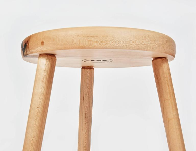 American Tripod Stool in Maple by Max Greenberg for Works Progress, 2016 For Sale