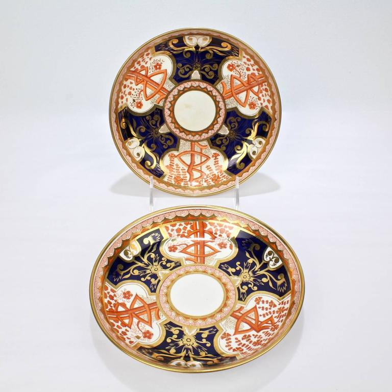 Pair of Antique Spode Imari Pattern 715 or Dollar Tree
