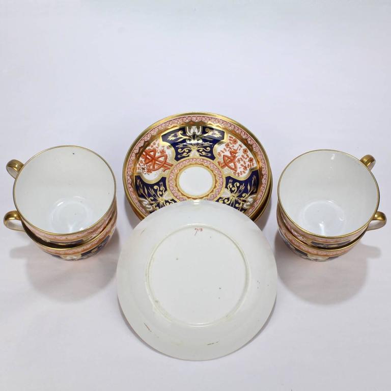 Porcelain Set of Four Spode Imari Pattern 715 or Dollar Tree Pattern Tea Cups \u0026 Saucers & Set of Four Spode Imari Pattern 715 or Dollar Tree Pattern Tea Cups ...