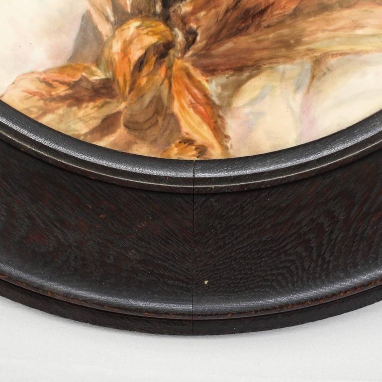 Large Hand-Painted Orientalist Limoges Porcelain Wall Plaque For Sale 2