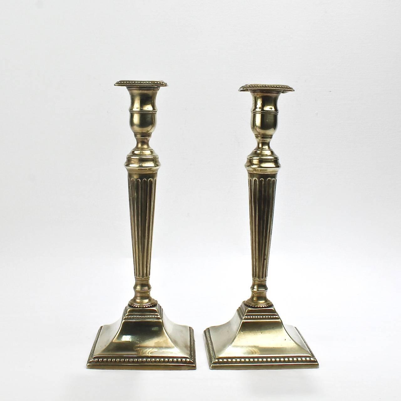 Dating english brass candlestick
