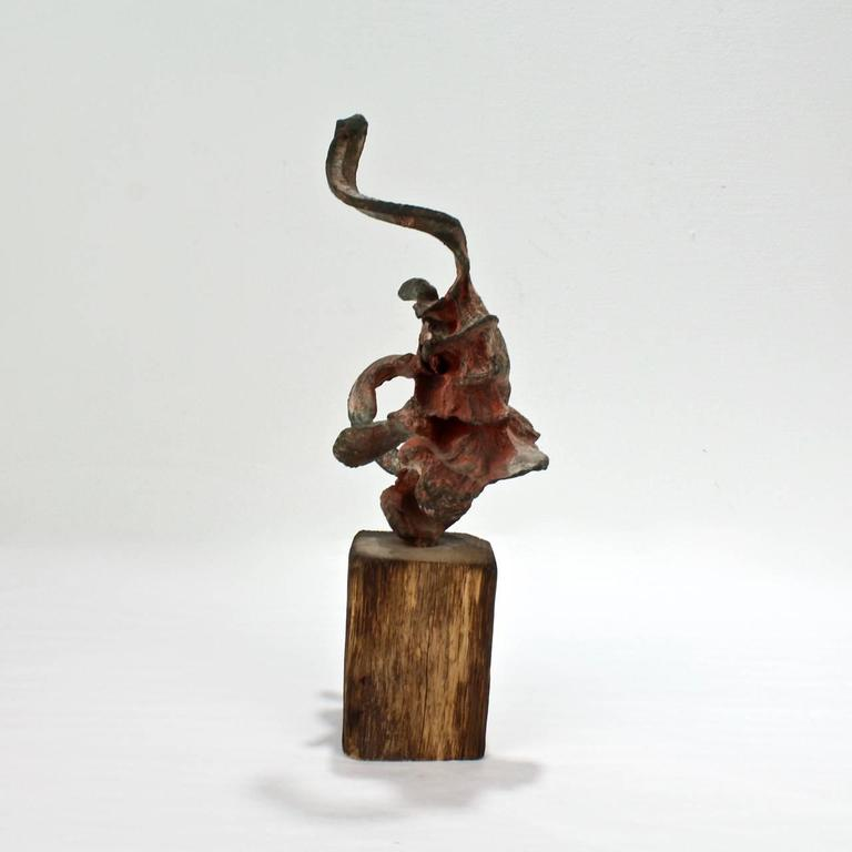 20th Century Squeeze Bronze Sculpture by Steve Tobin, 1990s For Sale