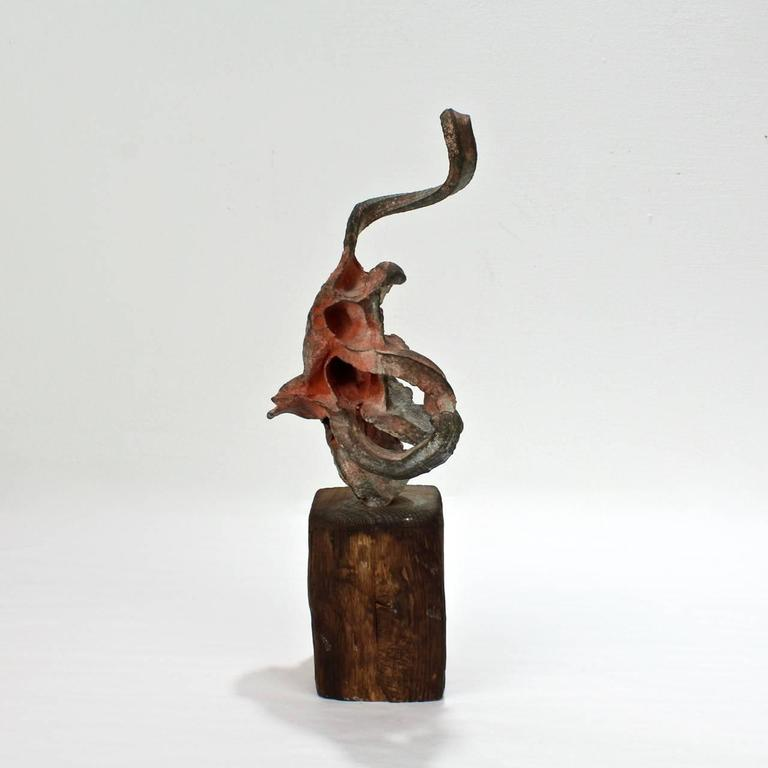 Squeeze Bronze Sculpture by Steve Tobin, 1990s In Good Condition For Sale In Philadelphia, PA