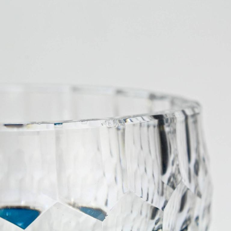 Val Saint Lambert Dark Teal Overlay Art Deco Franckenthal Art Glass Vase, 1930s For Sale 5