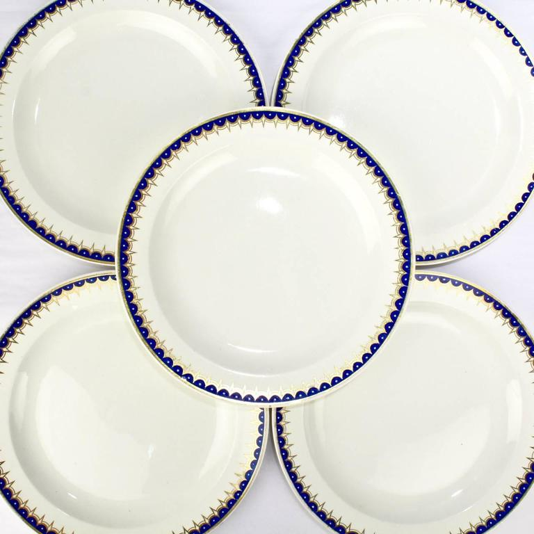 A terrifically rare set of Wedgwood creamware dinner plates.