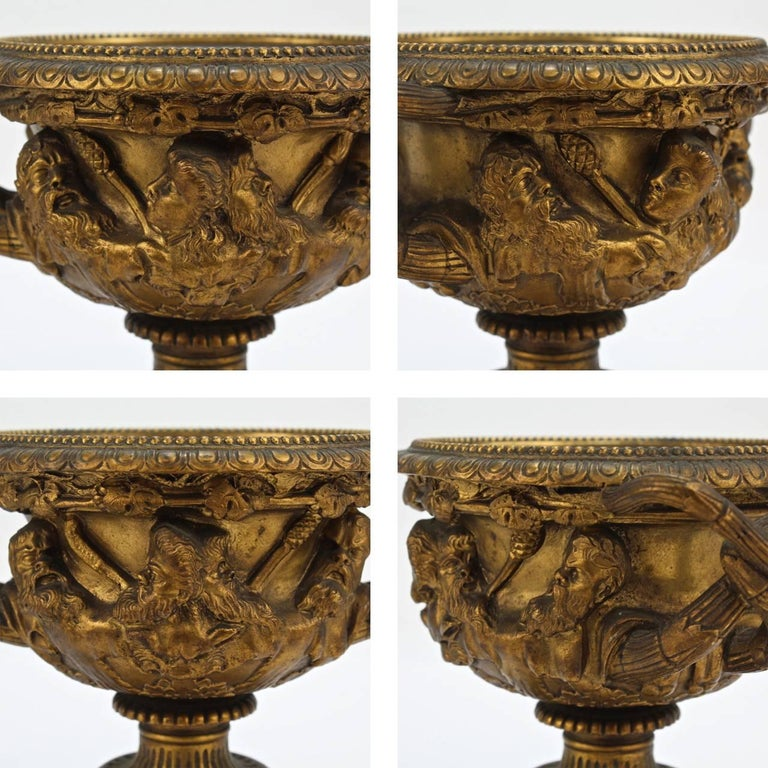 Antique 19th Century Grand Tour Cabinet Size Gilt Bronze Warwick Vase or Urn For Sale 1