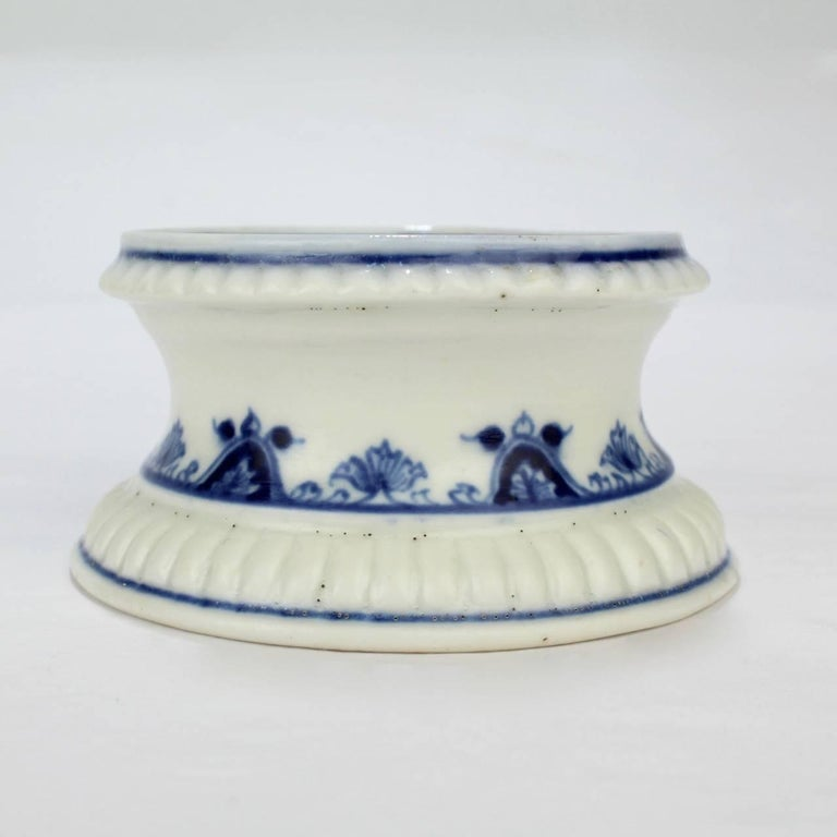 Early 18th Century Saint Cloud French Porcelain Salt Cellar or Trencher 3