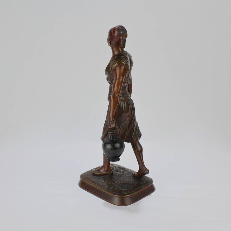 Beaux Arts French Orientalist Bronze Tunisian Water Carrier Sculpture by Jean-Didier Debut For Sale