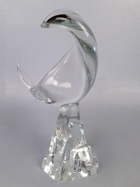 Mid century modern murano glass art fish sculpture