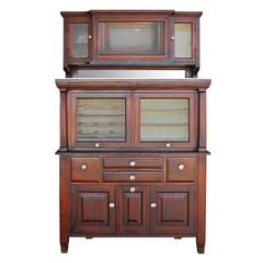 American Cabinet Co. Early 20th Century Mahogany Dental Cabinet