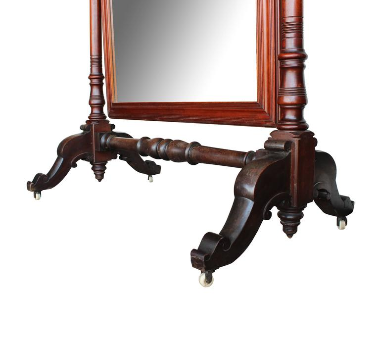 Late 19th Century Regency Cheval Mirror For Sale 2