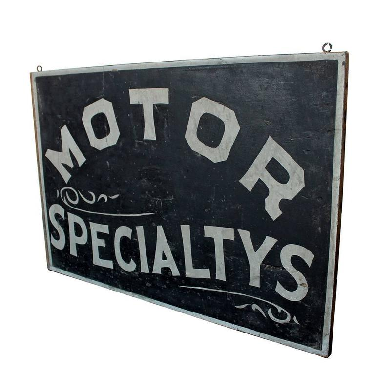 Motor Specialtys Sign In Good Condition For Sale In Aurora, OR