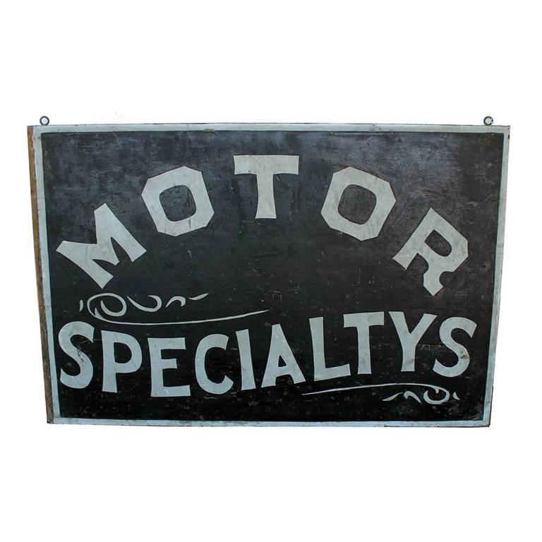 Motor Specialtys Sign For Sale