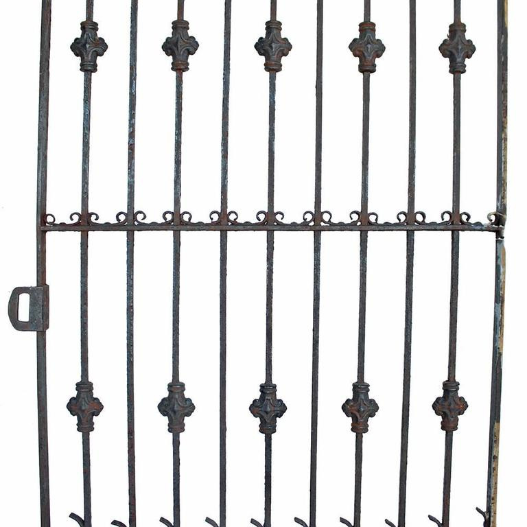 American Late Victorian Iron Garden Gate For Sale