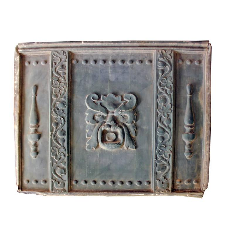 """American Classical Zinc Alloy """"Green Man"""" Architectural Panels For Sale"""