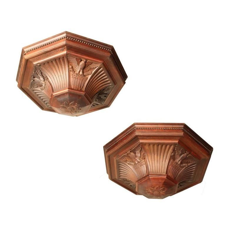 Walnut Early 20th Century Courthouse Lights For Sale