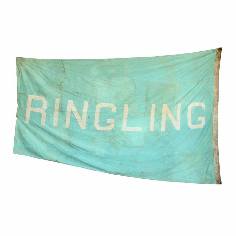 Vintage Circus Tent Flag, Ringling 2