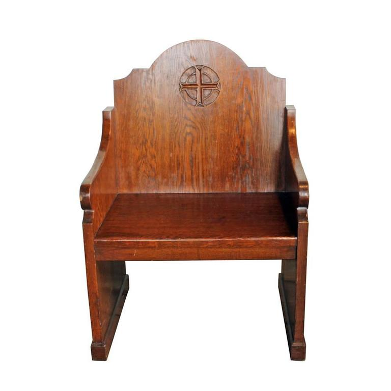 Oak Church Altar Chairs (S/2) 5