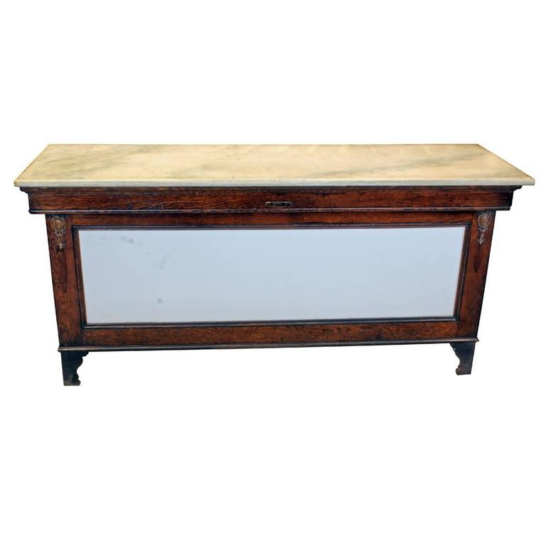 Early 20th Century Marble-Topped Butcher Case For Sale