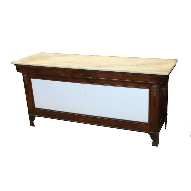 Early 20th Century Marble-Topped Butcher Case 3