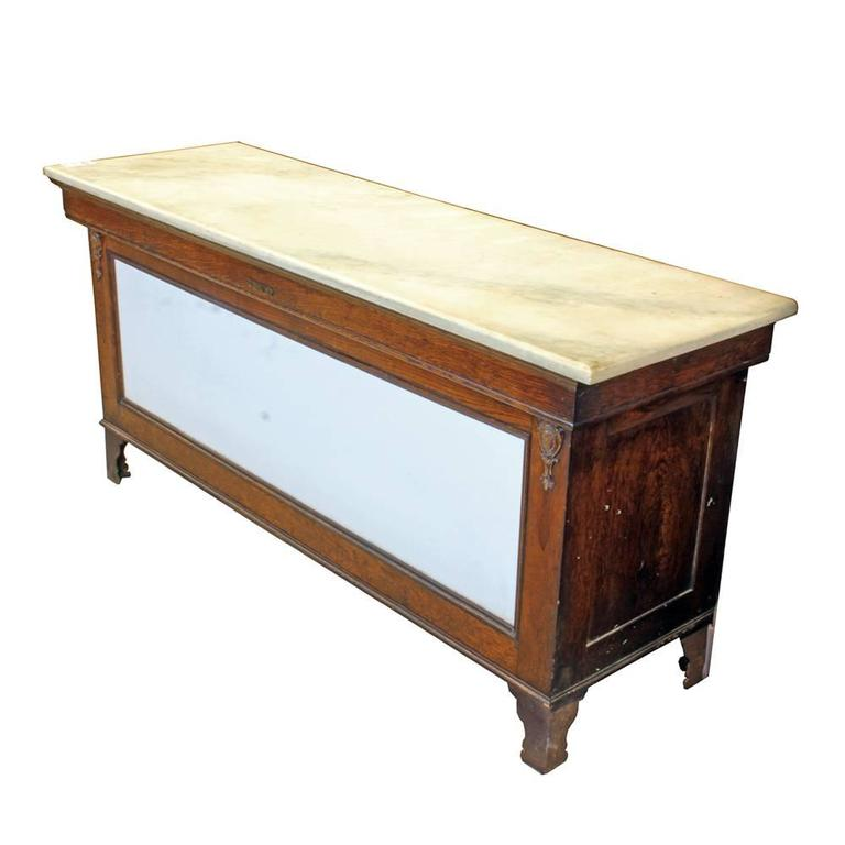 Early 20th Century Marble-Topped Butcher Case For Sale 1