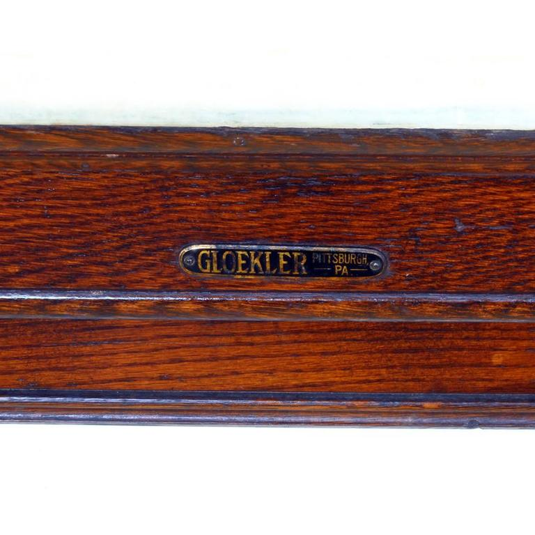 Early 20th Century Marble-Topped Butcher Case For Sale 2