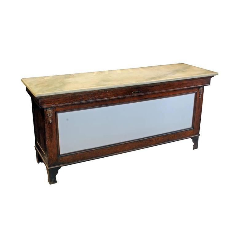 Early 20th Century Marble-Topped Butcher Case For Sale 3