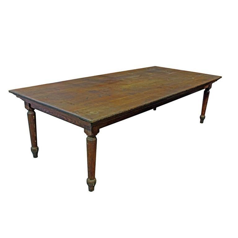 Primitive Oak Farm Table 5
