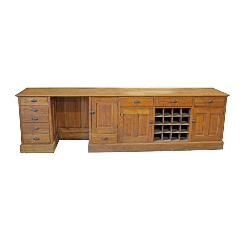 Oak Work Counter For Sale