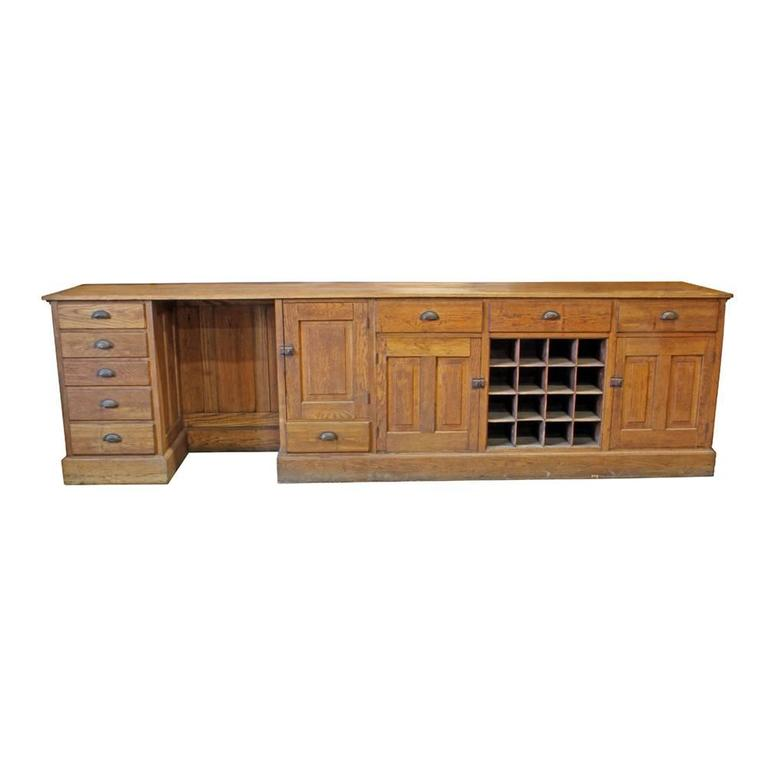 20th Century Oak Work Counter For Sale