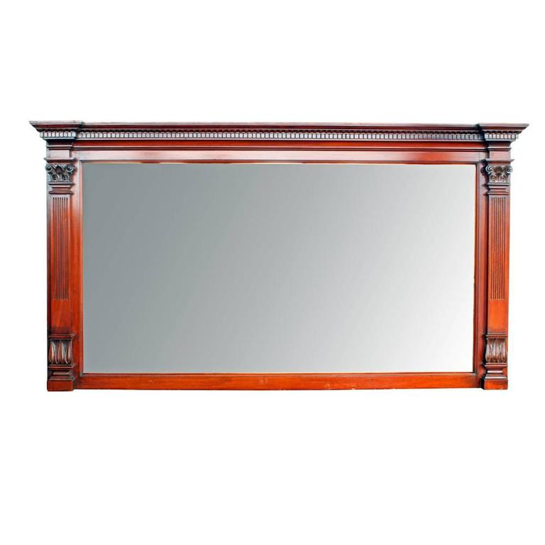 Ornate Mirrored Mahogany Double Mantel 2