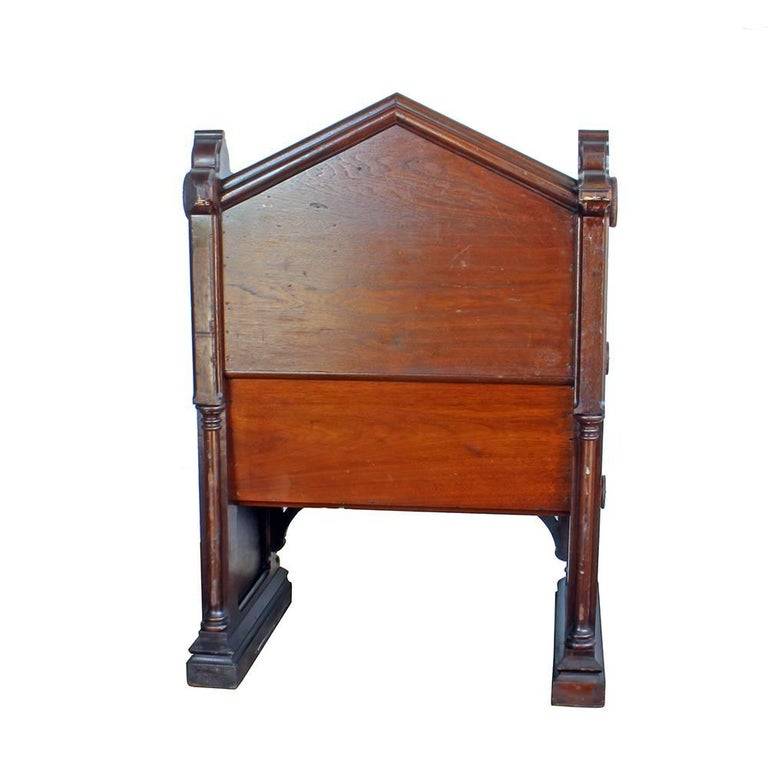 Gothic Revival Gothic Deacon's Bench For Sale