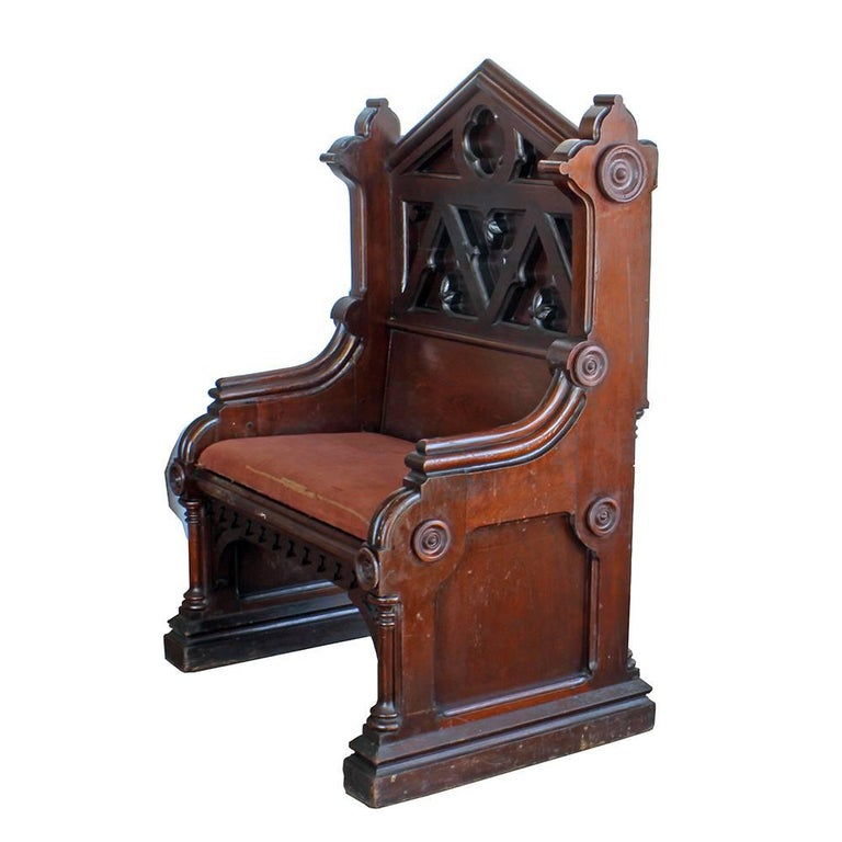 Gothic Deacon's Bench In Good Condition For Sale In Aurora, OR