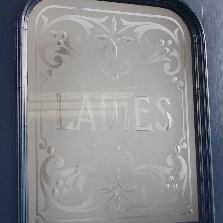 Etched Glass Gentlemen And Quot Ladies Quot Bathroom Doors At