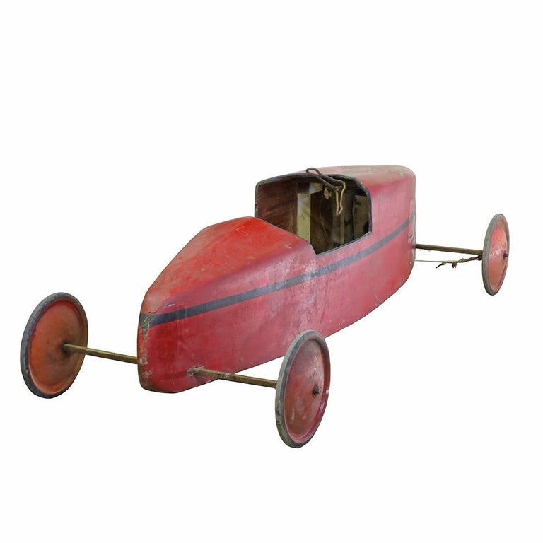 American Vintage Soap Box Derby Car- Red For Sale