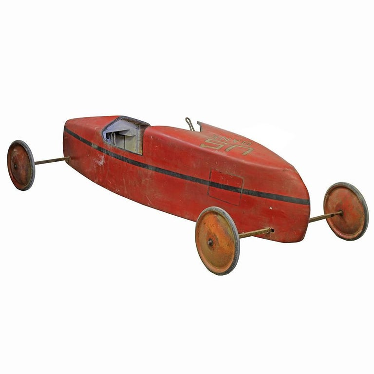 Other Vintage Soap Box Derby Car- Red For Sale