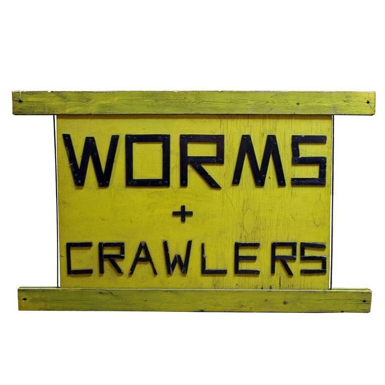 Worms and Crawlers Sign For Sale