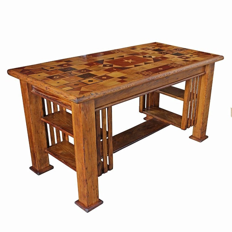 Folk Art Marquetry Desk