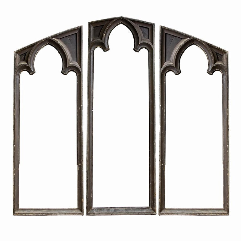 Gothic Window Frame Triptych at 1stdibs