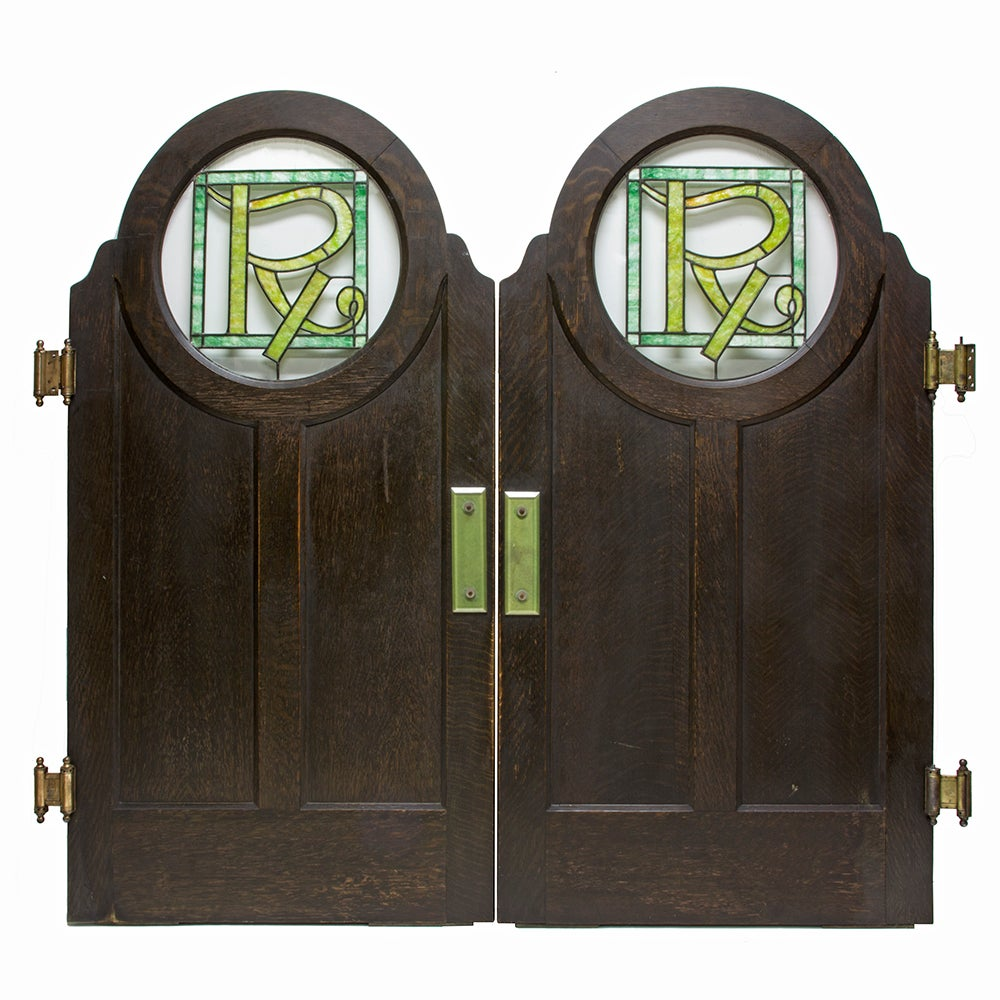 Stained Glass Saloon Doors, Set of 2