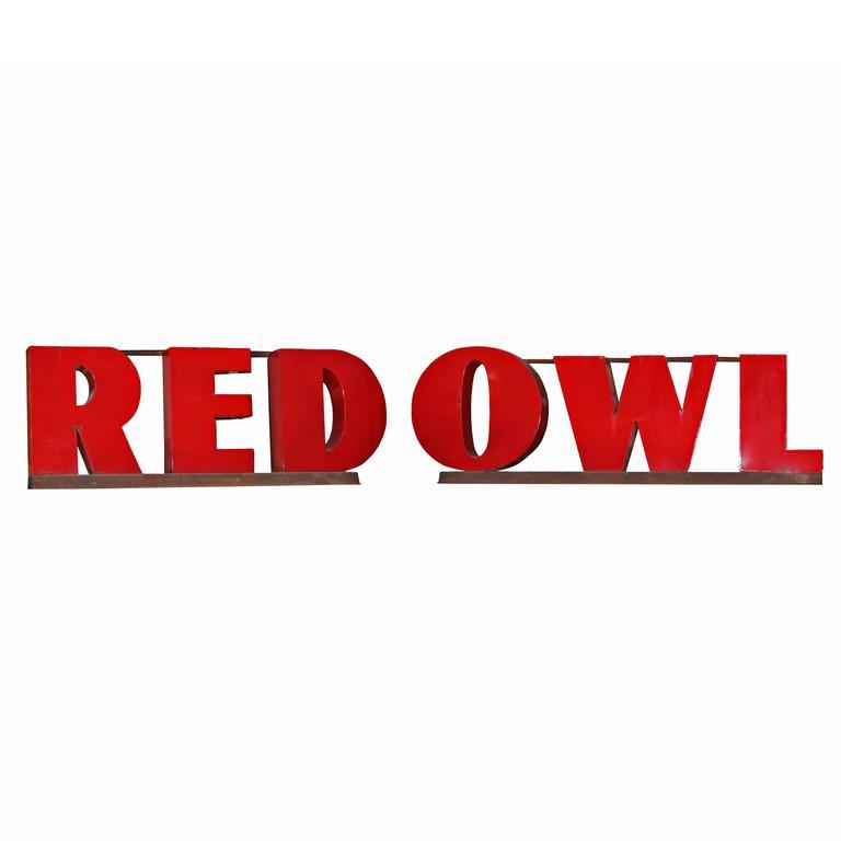 """""""Red Owl"""" Vintage Sign"""