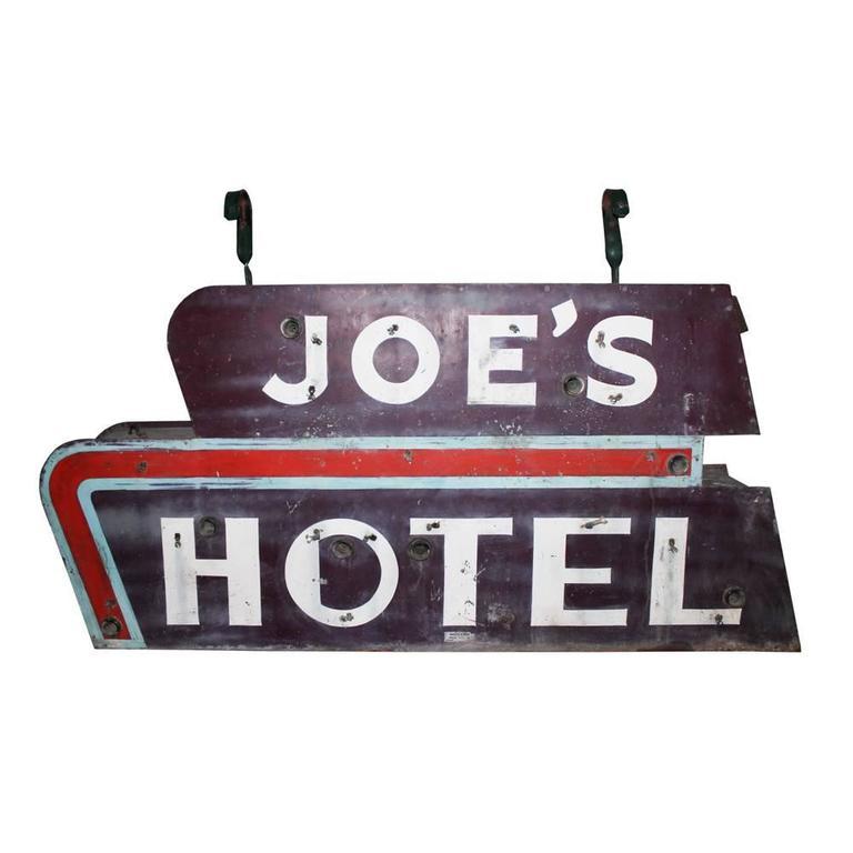 """Joe's Hotel"" Sign"