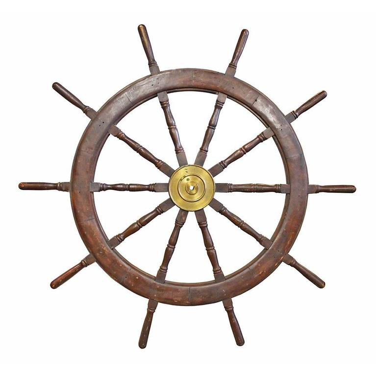 20th Century Ship's Wheel For Sale