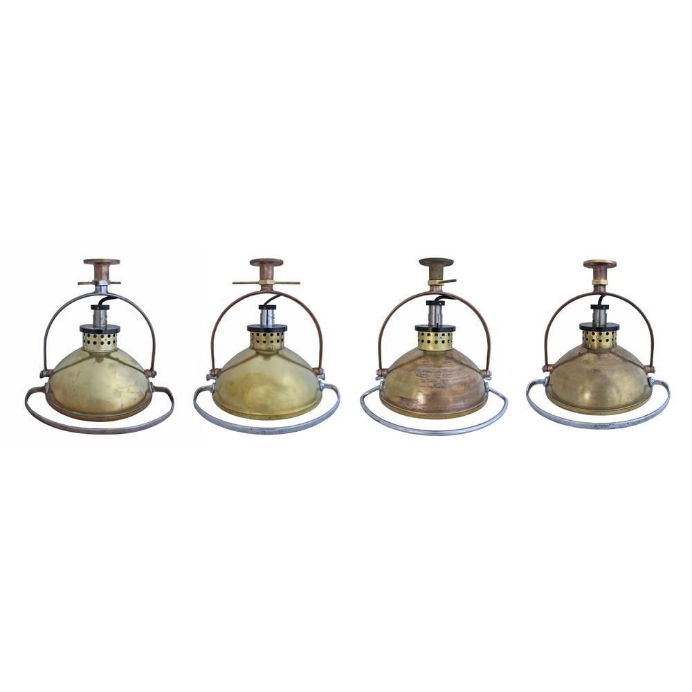 Set of Four Naval Surplus Surgical Lights