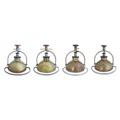 Set of Four Naval Surplus Surgical Lights
